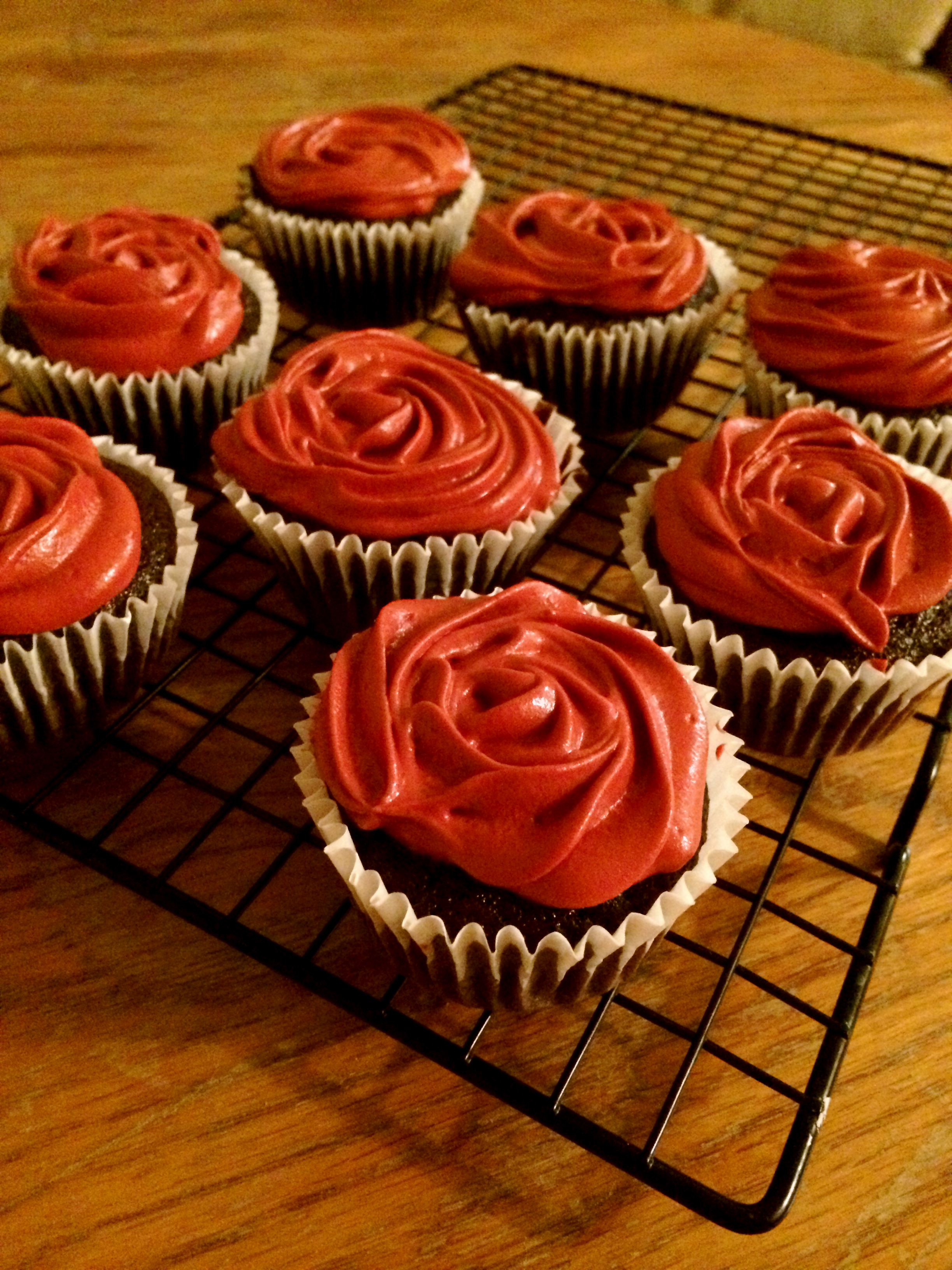 Bouquet or rose cupcakes