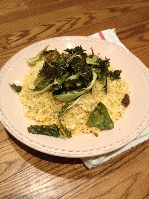 Riced Cauliflower, Ginger and Coconut