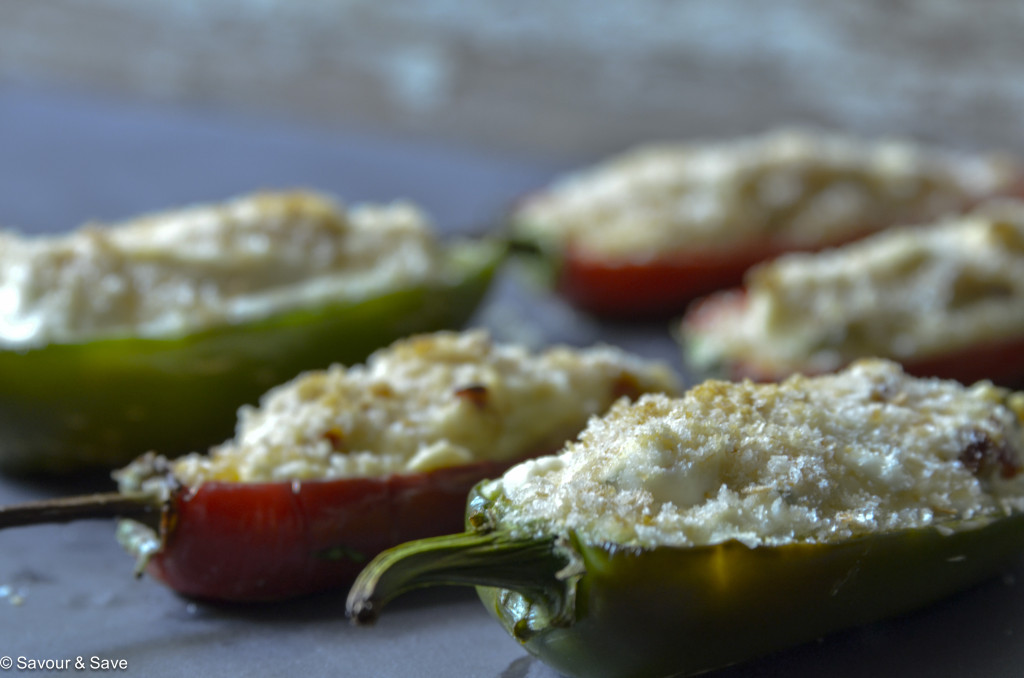 The finished shot of my baked jalapeno poppers