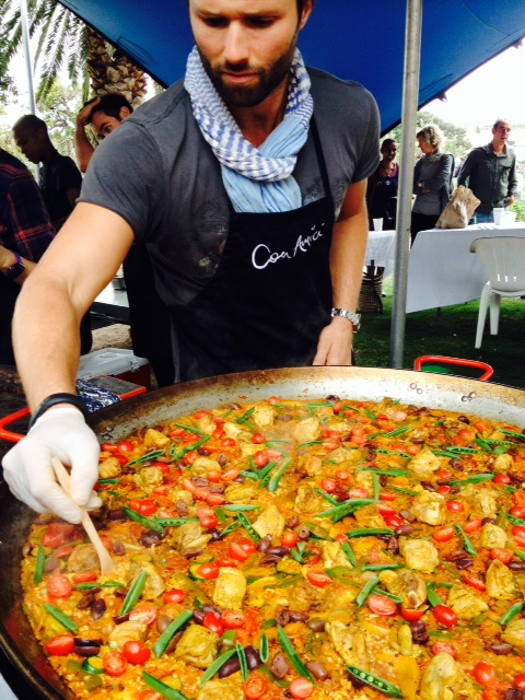 Even without seafood and saffron, this paella was the bomb!