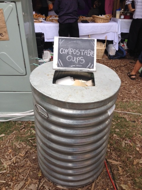 I love the fact that composting is king at the Oranjezicht Market