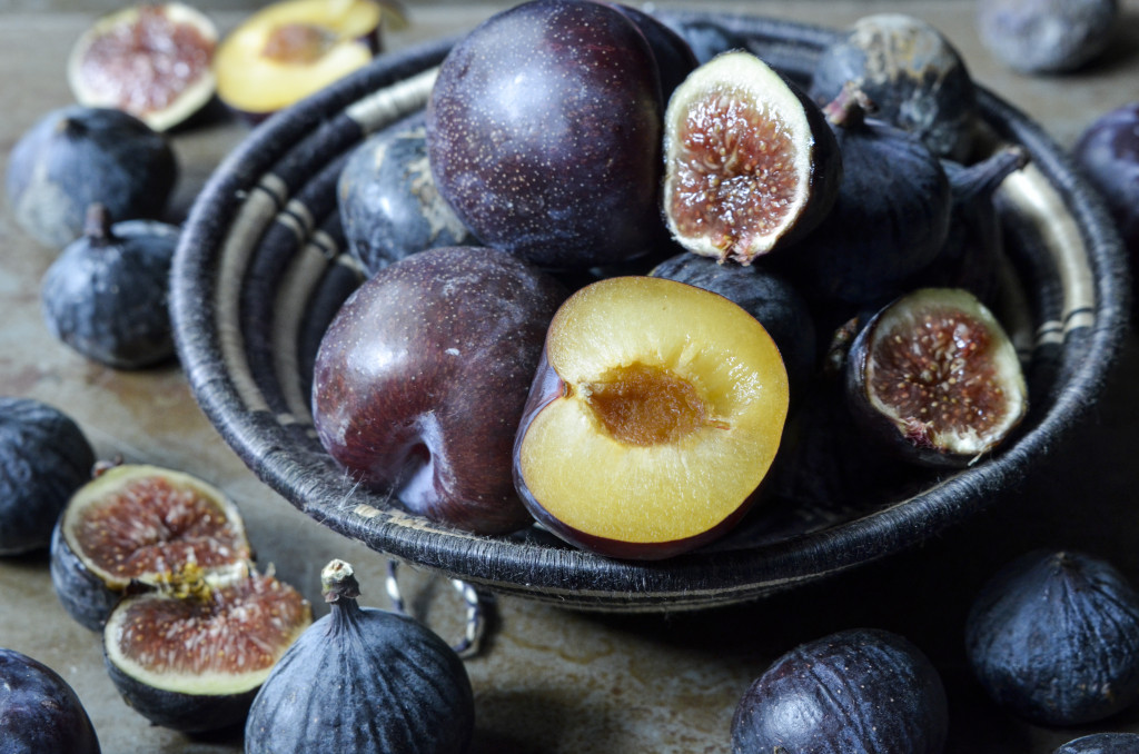 Plums and figs overly ripe so needing to be made into a jam