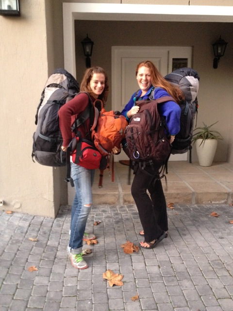 Pam and Sam off to conquer the African continent.
