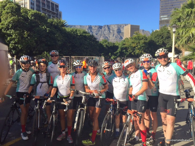 Cycle for Life Group before Cape Cycle Race